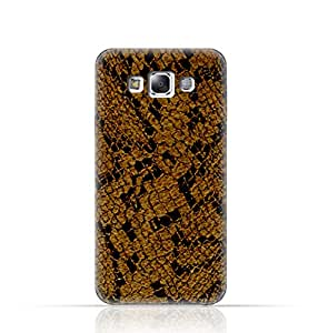 Samsung Galaxy E7 TPU Silicone Case with Brown Snake Fur Pattern Design - Multi Color