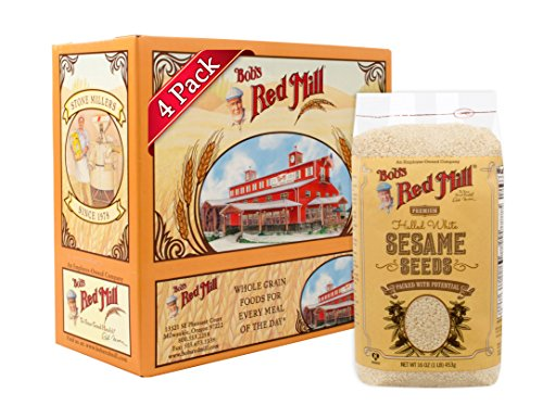 Bob's Red Mill Hulled White Sesame Seeds, 16 Oz (4 Pack)