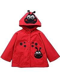 LZH Baby Girls Boys Raincoat Windbreaker Hooded Bomber Jacket