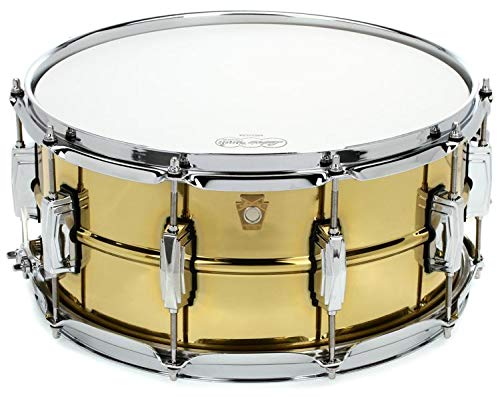 (Ludwig Super Brass Snare Drum - 6.5 Inches X 14 Inches)