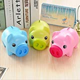 100% brand new and high quality Made of high quality plastic material, non-toxic, tasteless, fashion cute thick material;Home Decoration, birthday gift In a pig's back entrance, can be cast into coins and banknotes When you want to take out, simply o...