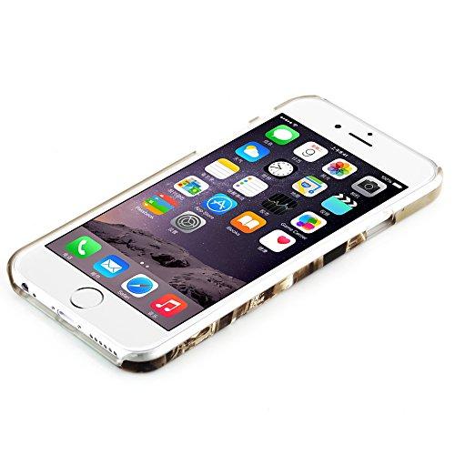 Cadorabo - Hard Cover Protección para Apple iPhone 6 / 6S (4.7 pulgadas) - Case Cover Funda Protectora Carcasa Dura Hard Case en Diseño VIOLETA LILA ESTATUA DE LA LIBERDAD