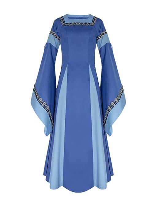 Vestido De Traje Medieval Vestido Renacentista para Mujer Vestido Largo De Noche De Estilo Victoriano Gotico