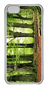 iPhone 5C Case, Personalized Custom Wood Land for iPhone 5C PC Clear Case