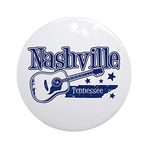 CafePress Nashville Tennessee Ornament (Round) Round Holiday Christmas Ornament ()