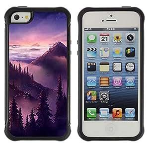 Suave TPU GEL Carcasa Funda Silicona Blando Estuche Caso de protección (para) Apple Iphone 5 / 5S / CECELL Phone case / / Sunset Sunrise Mountains Trees /