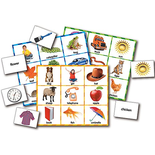 51G93hqgWRL - The Learning Journey Match It! Bingo - Picture Word - Reading Game for Preschool and Kindergarten 36 Picture Word Cards