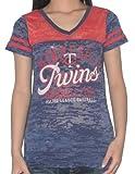 MIN Twins - Womens V-Neck T-Shirt (Vintage Look)