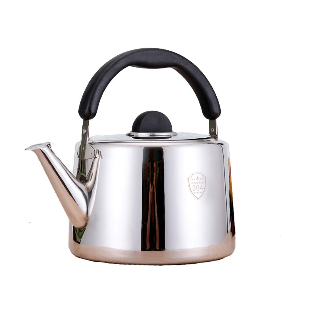 Stainless Steel Whistling Kettle, for Home Kitchen Restaurant Hotel Cafe Use and Outdoor Camping Hiking Picnic, 3L,4.5L,5L,10L by HLLXX