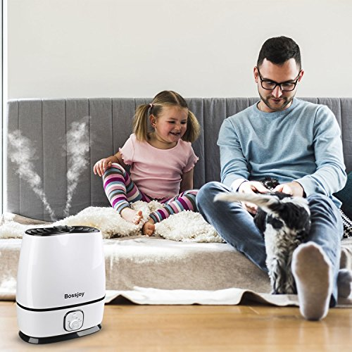 BOSSJOY Ultrasonic Cool Mist Humidifier for Baby, 6L Premium Air Humidifier, Whisper-Quiet Operation, Waterless Auto Shut-Off, Adjustable Mist Mode for Home Bedroom Babyroom Office by BOSSJOY (Image #4)