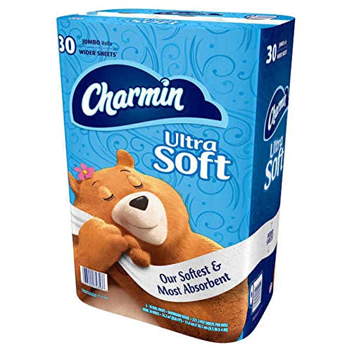Charmin Ultra Soft Toilet Paper Jumbo Rolls Bath Tissue - 30 ct.