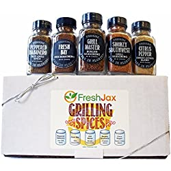 FreshJax Grilling Spice Gift Set, (Set of 5)