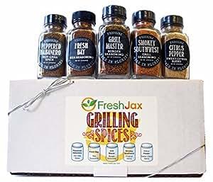 FreshJax Grilling Spice Gift Set, (Set of 5)