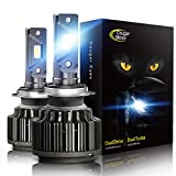 Cougar Motor H7 LED Headlight Bulbs, 7200Lm 6K Xenon White All-in-One Conversion Kit