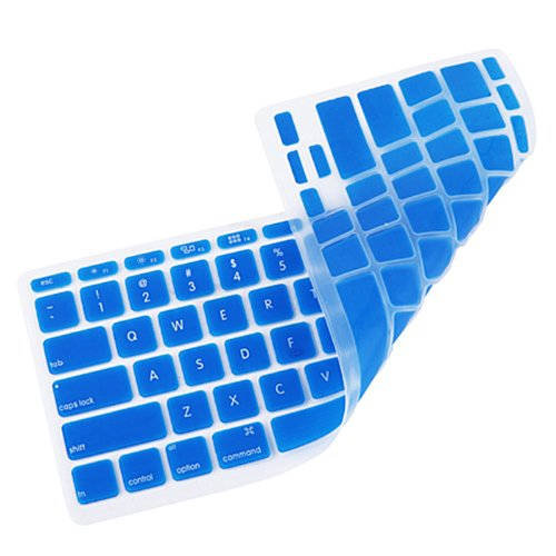 HDE Protective Silicone Keyboard Cover Skin for MacBook Air 11.6 (Model 1370 and A1465), Blue