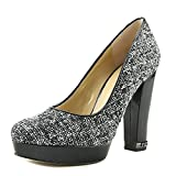 Michael Kors Michael Sabrina Platform Pumps Tweed, Black, Size 6.5