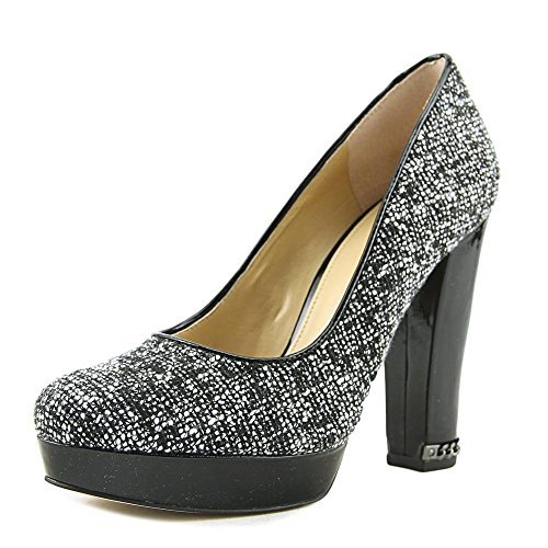 Sabrina Platform Pumps Tweed, Black, Size 8.5 (Michael Kors Suede Platform Pumps)
