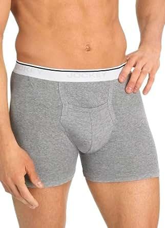 Jockey Men's Underwear Pouch Boxer Brief - 2 Pack, white, S