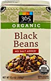365 Everyday Value, Organic Black Beans, No Salt Added, 13.4 oz