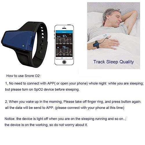 Lunasea Wireless SpO2 Pulse Oximeter Alarm Sleep Monitor