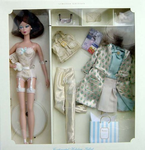 Silkstone Barbie Continental Holiday Giftset 2001