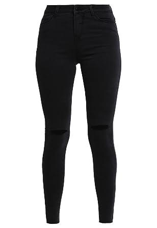 da0b099fbf14 Even Odd Skinny Jeans Damen in Schwarz – Röhrenjeans im Destroyed Look, ...