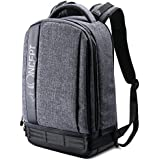 K&F Concept Professional Camera Backpack Large Size Photography Bag for Canon Nikon Sony DSLR, 13.3 Laptop,Tripod (Grey)