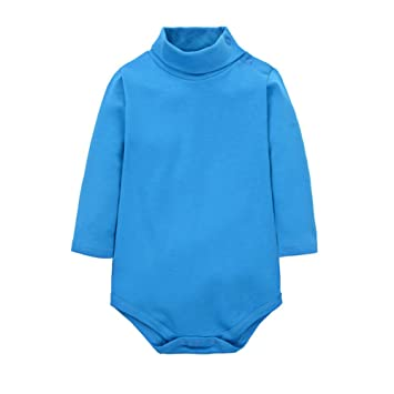 ROMPERINBOX Solid Black Baby Turtleneck Bodysuit Long Sleeve Outfits
