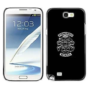 For SAMSUNG Galaxy Note 2 II / N7100 Case , Biker Gang Music Decal Rock Heavy - Diseño Patrón Teléfono Caso Cubierta Case Bumper Duro Protección Case Cover Funda
