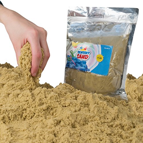 Sensory Sand 2 Pounds, Beige (Moon Sand Table)
