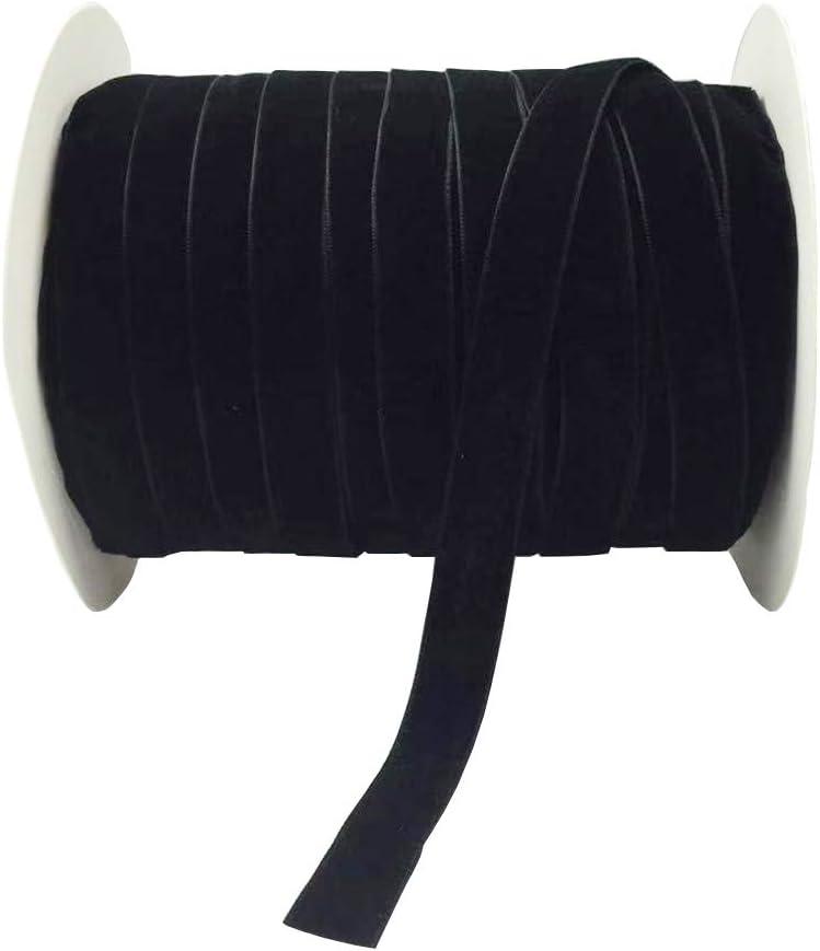 "10 Yards Velvet Ribbon Spool Available in Many Colors (Black, 5/8"") 51G96MJ6rZL"