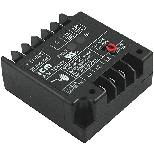 ICM Controls ICM402 Three-Phase Line Voltage Monitor Offering Protection Against Phase Loss/Reversal and Unbalance, 50/60 Hz, 190-600 VAC (115 or 208/240 Control VAC) ()