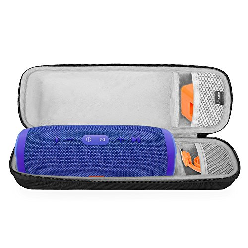 BOVKE Shockproof Carrying Case for JBL Charge 3 Waterproof Portable Wireless Bluetooth Speaker Hard EVA Storage Travel Case Bag Protective Pouch Box - Fits USB Cable and Wall Charger ()