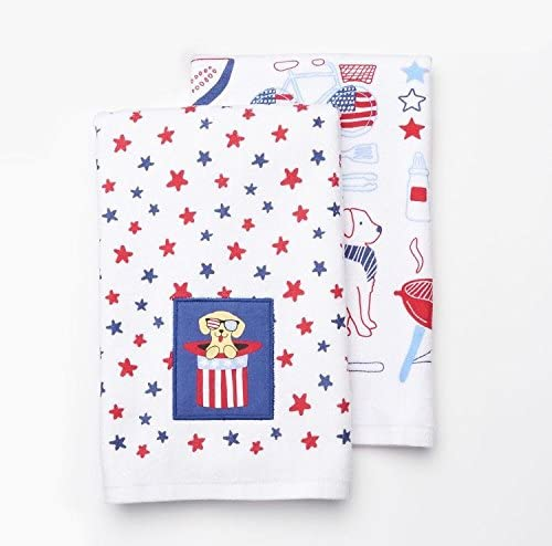 1 Celebrate Americana Together Stars /& Stripes Kitchen Dish Towel 16.5 x 26 NEW