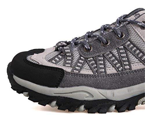 Paseo Hhgold Al Zapatos Para Rosa Ayudar Montañismo Libre Roja Bajo Gris Neta Transpirables Caminar A Aire De 36 color Deportivos Tela Tamaño FZArqF