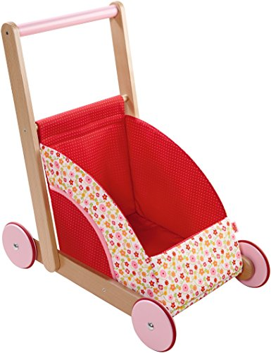 HABA Summer Meadow Doll Pram Ride On (Haba Walker Wagon)