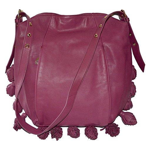 Cynthia Rowley Hobo Shoulder Bag Kassia Purse Handbag Lea...