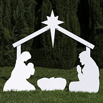 Outdoor Nativity Store Silhouette Outdoor Nativity Set   Holy Family Yard  Scene (Standard Size)