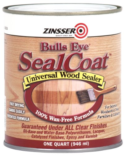 Rust-Oleum Zinsser 824H 1-Quart Bulls Eye Sealcoat Wood Sealer, Clear
