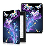 Anvas Case for Kindle Paperwhite 10th Gen 2018,Thinnest Light Shell Smart Cover with Auto Wake/Sleep for All-New Amazon Kindle Paperwhite 6 Inch 2018 Release, Purple Butterfly Echoes