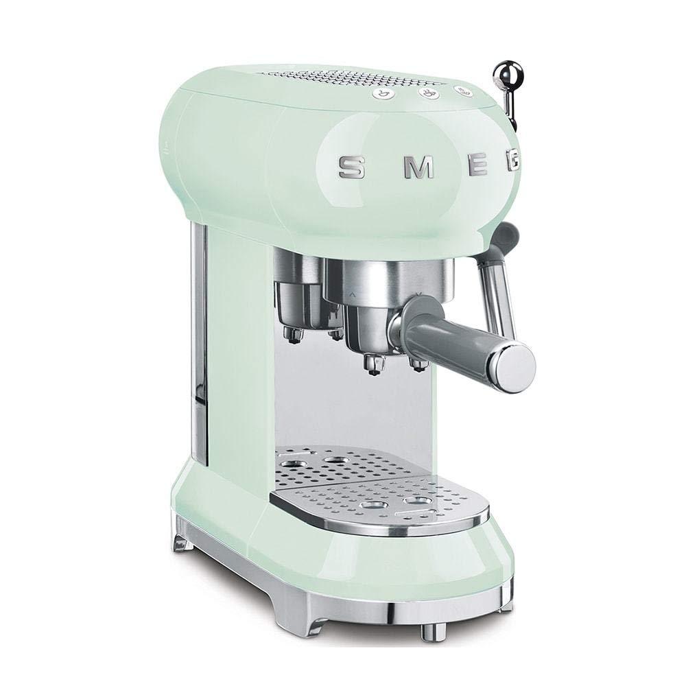 Smeg ECF01PGUS Espresso Machine, Pastel Green by Smeg (Image #1)