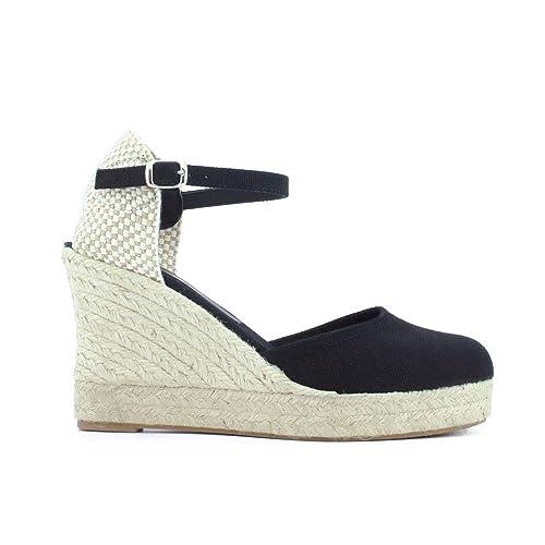 Yute Plataforma Alta 7 Cuerdas Textil Cuña Esparto: Amazon.es: Zapatos y complementos