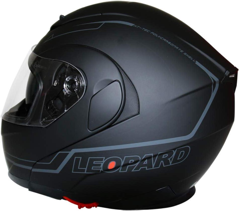 Leopard LEO-838 Doppelvisier ECE Genehmigt Klapphelm Integralhelm Motorradhelm Damen und Herren