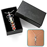 Best Gemstone Necklaces - 7 Chakra Handmade Pendant Necklace by HoodaSpa | Review