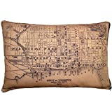 City of Toronto Vintage Map Pillow