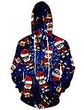 RAISEVERN Unisex Funny Galaxy Christmas Cat Design