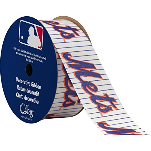 Offray MLB New York Mets Fabric, 1-5/16