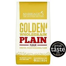 W&H Marriage Golden Wholegrain Plain Flour - 1kg (2.2lbs)