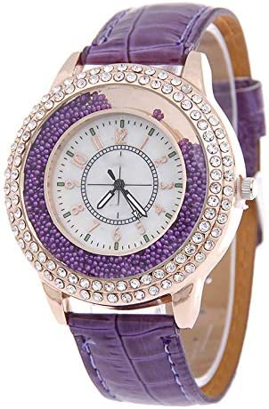 Liandd Marca Perlas Relojes Mujeres Señoras Vestido de Cristal Reloj de Pulsera de Cuarzo
