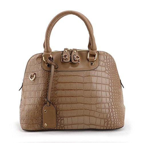 Camel de piel de serpiente Look bolso de mano bolsa para ...